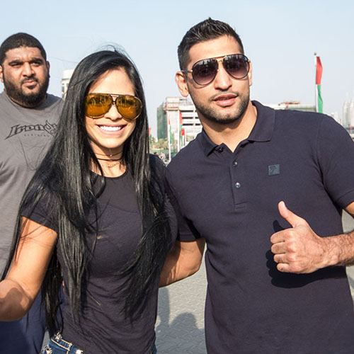 Amir Khan Courtship and Meet and Greet, Pre Michelle Lewin Show up